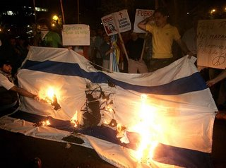 Protest at the Israeli embassy in Peru
