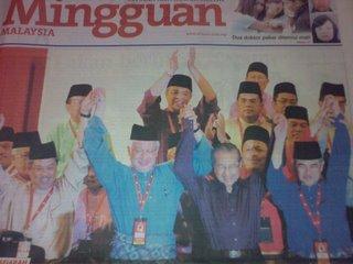 Najib Razak, Mahathir Mohamad, Abdullah Badawi