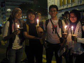 Vigil for Palestinians in Gaza
